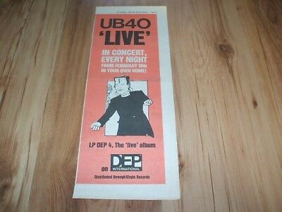 UB40-1983 magazine advert