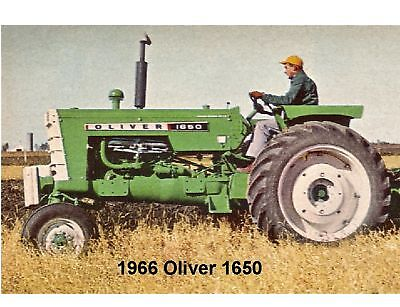 1966 Oliver 1650 Tractor  Refrigerator / Tool Box Magnet Man Cave Gift Item