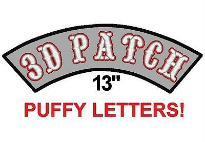 Custom Embroidered Rocker Name Patch 3D PUFFY LETTERS