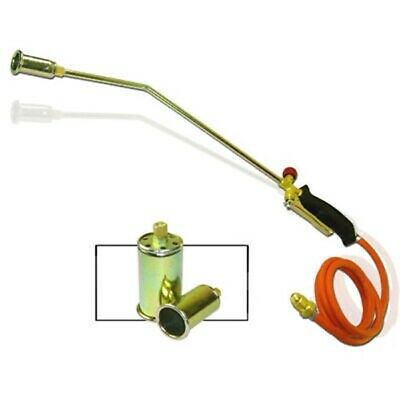 Propane Torch w/2 Extra Nozzle Ice Melter Weed Burner Camping Landscape Tool