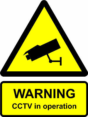 Construction/Building Site Safety Sign CCTV