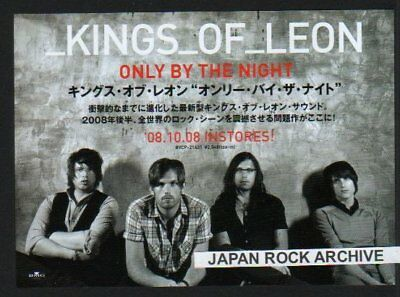 2008 Kings Of Leon Only By The Night JAPAN promo ad / advert / clipping cutting