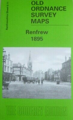 Old Ordnance Survey Detailed Maps Renfrew Scotland 1895 Godfrey Edition New