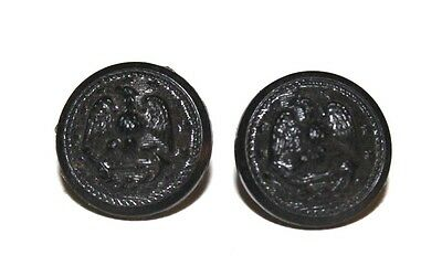 """WWII US Navy black button small cuff hat size 14mm 9/16"""" lot of 2 B1361"""