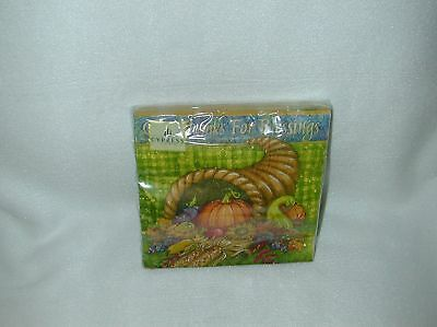 Cypress ''give Thanks'' 20 Cocktail Paper Napkins-New