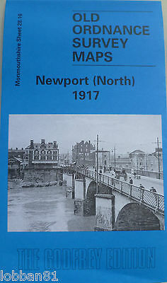 Old Ordnance Survey Map Newport North  1917 S28.16 New