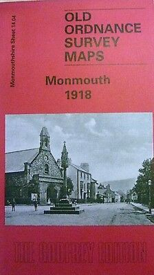 Old Ordnance Survey Detailed Maps Historic Town of  Monmouth 1918 Sheet 14.04
