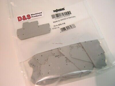 New WAGO 870-118 8700118 End Plate (Bag of 25)