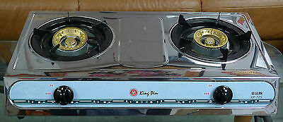 New Cast Iron Stainless Steel  LP Double Stove Burner