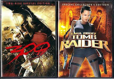 300 (DVD, 2-Disc Set, Special Edition) & Lara Croft Tomb Raider (DVD,S.Edition)