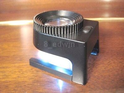 Professional Solid Steel 10x Mag Large Lens Lighting Loupe / Magnifier