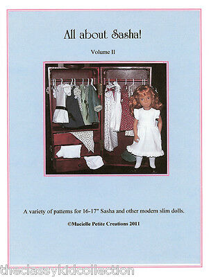 All About Sasha! Volume II Doll Patterns Booklet  NEW!