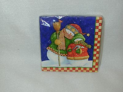 """Christmas """"snowfriends""""lunch Paper 16  Napkins-New"""