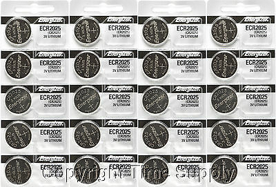 20 pcs 2025 Energizer Watch Batteries CR2025 CR 2025  3V Lithium Battery 0%HG