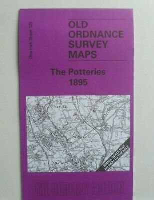 Old Ordnance Survey Maps Potteries area Staffordshire Newcastle Betley  1895 123