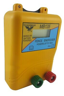 15km MB135 MAINS & BATTERY Powered Electric Fence ENERGISER- Thunderbird