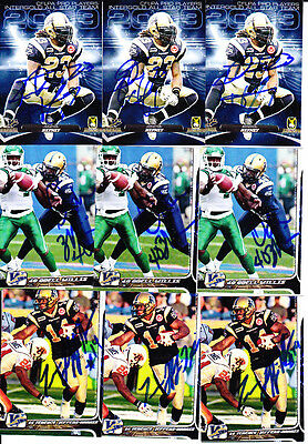 2010 Extreme CFL Odell Willis RC Signed Card BOMBERS