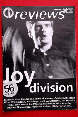Joy Division On Cover 1998 Rare Exyu Magazine