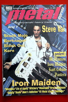 Steve Vai On Cover 1999 Rare Exyu Magazine