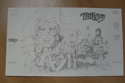 Lithographie,tellos,mauricet,neuf,,rare