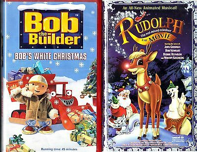 Bob the Builder - Bob's White Christmas & Rudolph The Red-Nosed Reindeer, 2 VHS