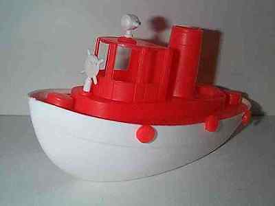 AMLOID TOYS 1960'S LARGE SIZE HARBOR TUG BOAT TUGBOAT TOY BOAT A MINT