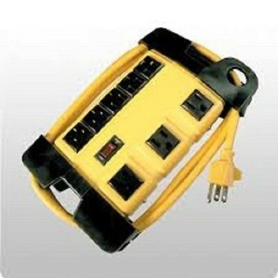 8 Outlet Yellow Block With Cord Management Chio2518