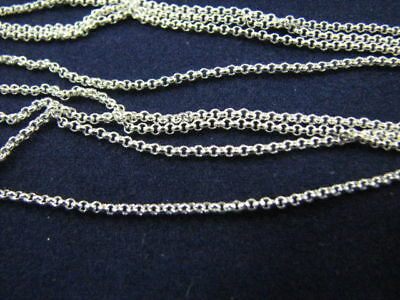 10 pcs Sterling Silver 20 inch 1.2mm Rolo Link Chains Necklaces Highly Finished