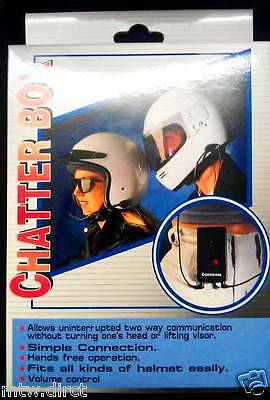 "Motorcycle Rider To Pillion Intercom System "" Chatterbox "" Brand New Boxed"