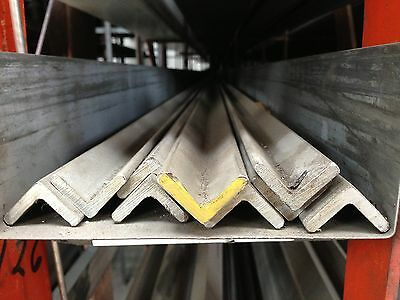 """STAINLESS STEEL ANGLE 3/4"""" x3/4"""" x1/8"""" x48""""  304"""