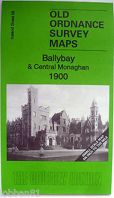 Old Ordnance Survey Map Ballybay & Central Monaghan Ireland 1900 New Map