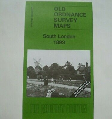 OLD OS Maps South London to Croydon Sutton Surbition & map Claygate 1893 New