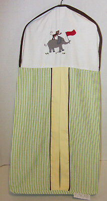 NEW FAO Schwarz Journey Elephant Striped Nursery Diaper Stacker