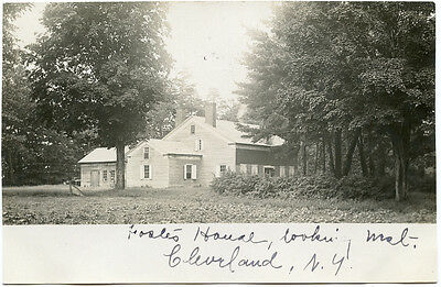 RPPC NY Cleveland Foster? House Looking West 1906 Oswego County