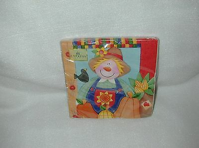 Cypress Patchwork Scarecrow 20 Paper Lunch Napkins-New