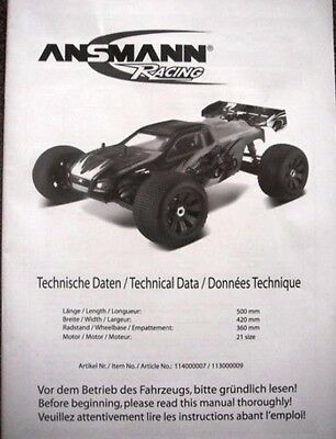 New Ansmann Terrier 2 Instructions / Build Manual
