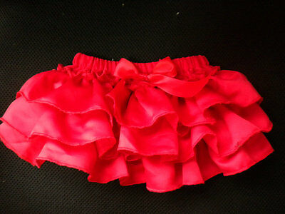 Baby Girl Red Satin Frilly Knickers/pants/bloomers 0-12 Months
