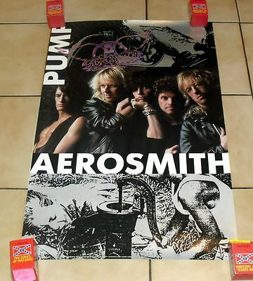 "1980S VINTAGE AEROSMITH *PUMP* POSTER 22X34"" MUSIC GROUP"