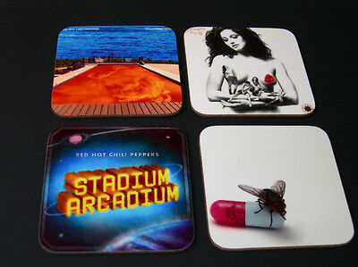 The Red Hot Chili Peppers Album Cover COASTER Set #2