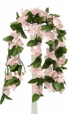 26 Hibiscus Pink Hanging Bush Silk Flowers Wedding Bouquets Centerpieces