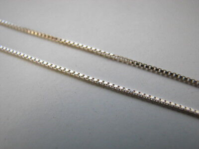 3 feet Sterling Silver Box Chain Bulk Unfinished 1mm on Spool solid 925