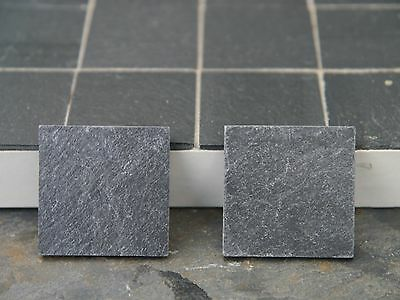 "100  1:12th Scale 1"" REAL SLATE Floor Tiles"