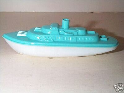 BANNER 1950'S US NAVY BATTLESHIP TOY BOAT HP MINT