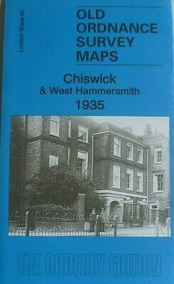 Old Ordnance Survey Maps Chiswick & West Hammersmith London 1935 Godfrey Edition