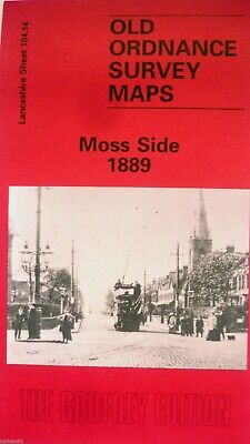 Old Ordnance Survey Maps Moss Side Manchester Lancashire 1889 Sheet 104.14  New