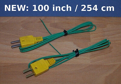K-Type Thermocouple Wire Digital Thermometer Temperature Sensor Extra Long 100in