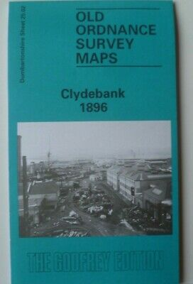 Old Ordnance Survey Maps Clydebank Dumbartonshire Scotland1896 Godfrey Edition