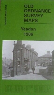 OLD Ordnance Survey Detailed Maps Yeadon Yorkshire 1906 Godfrey Edition New