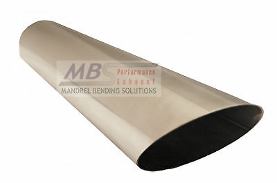"""MBS 3 1/2"""" x 18"""" T-304 Stainless Polished Slash Cut Exhaust Tip Truck Car Turbo"""