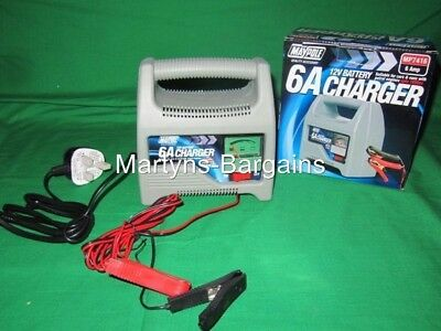 12 Volt Battery Charger. 6A Battery Charger.Suitable for up to 1800cc Petrol Car